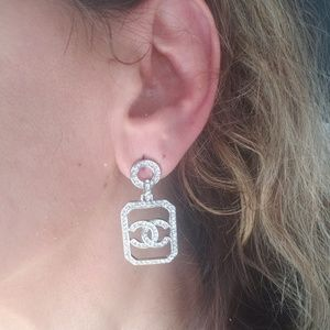 Chanel Crystal classic earrings